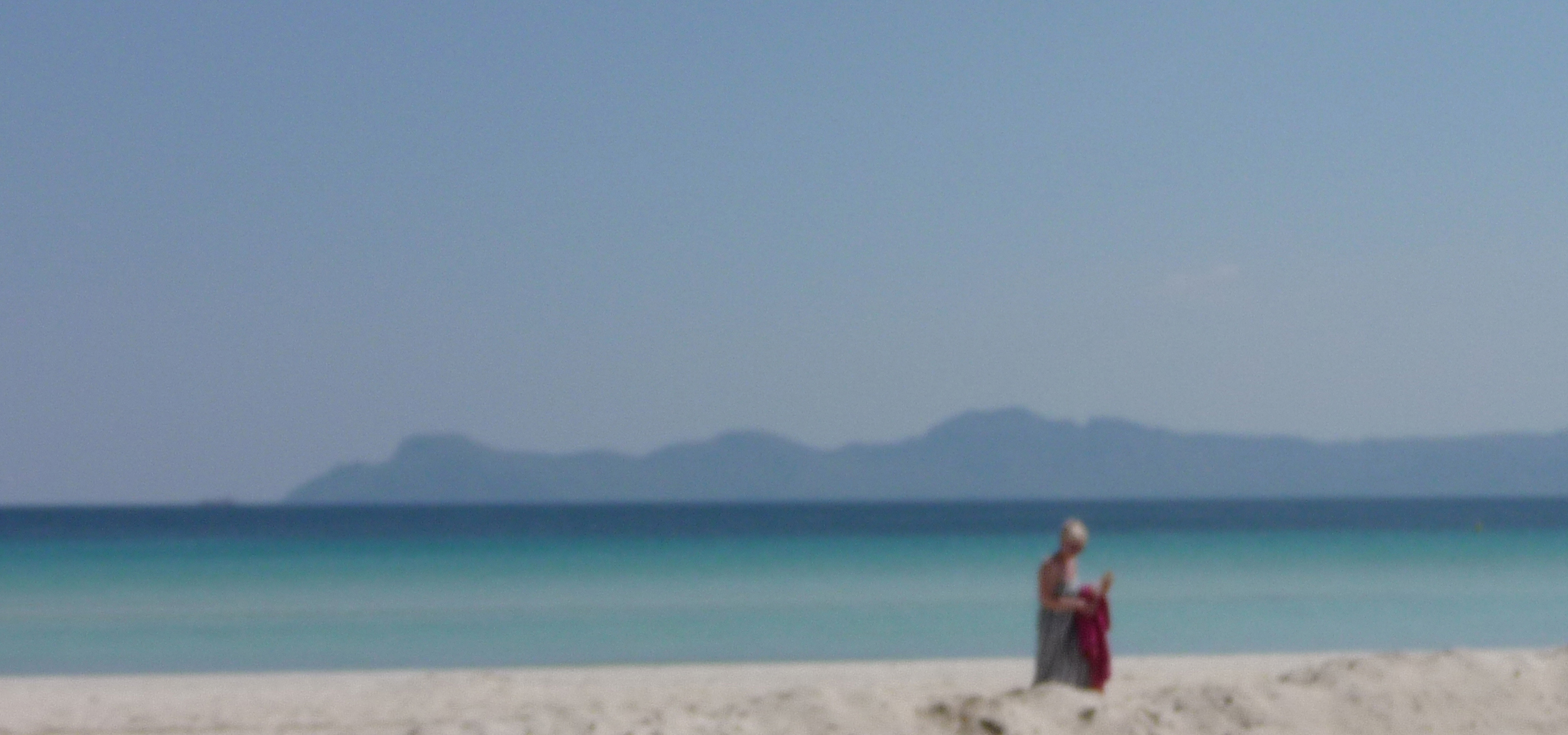 Die Frau am Strand